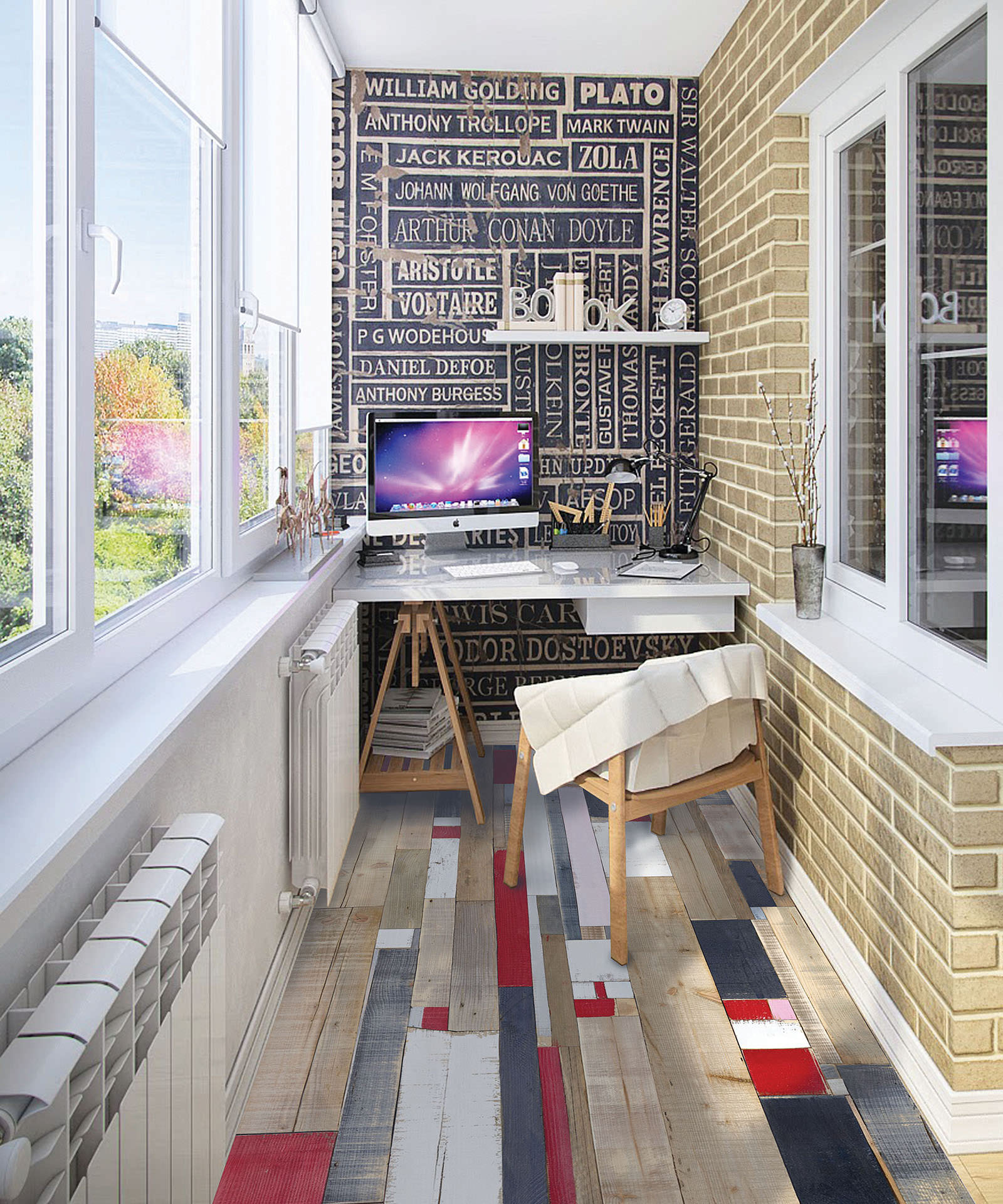 Дизайн балкона - фото новинки 2017 года современные тенденци.