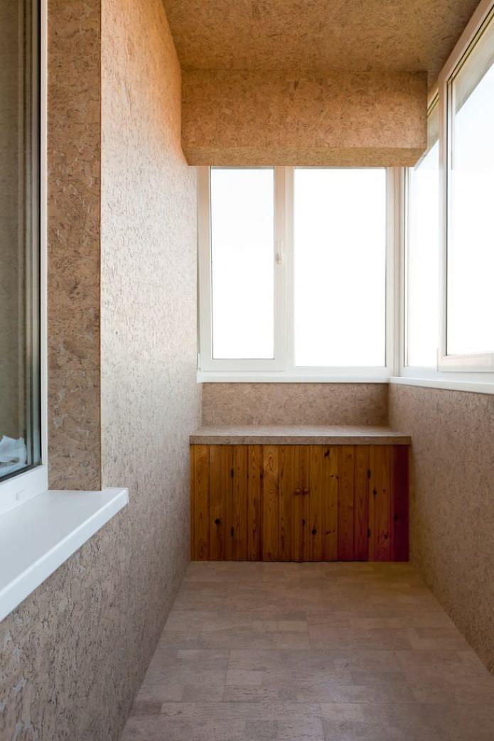 пробковый материал для стен балкона