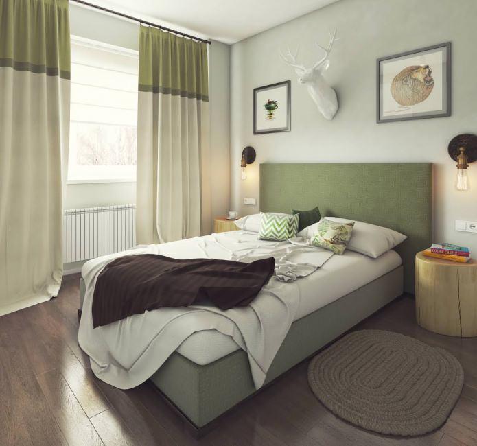 дизайн спальни 13 кв. м.