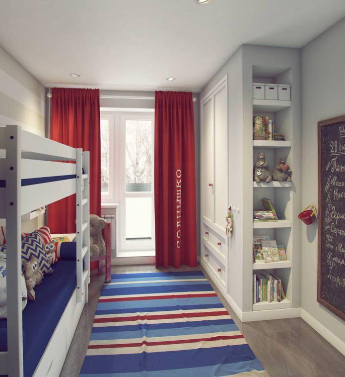 дизайн детской комнаты 9,5 кв. м.