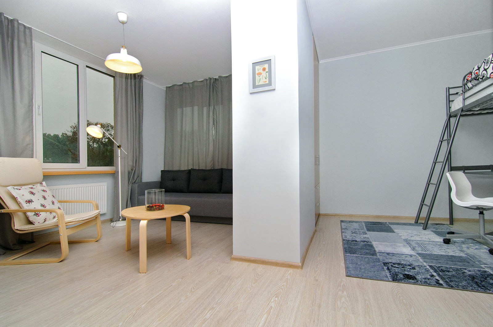 Design of a two-room apartment with two children