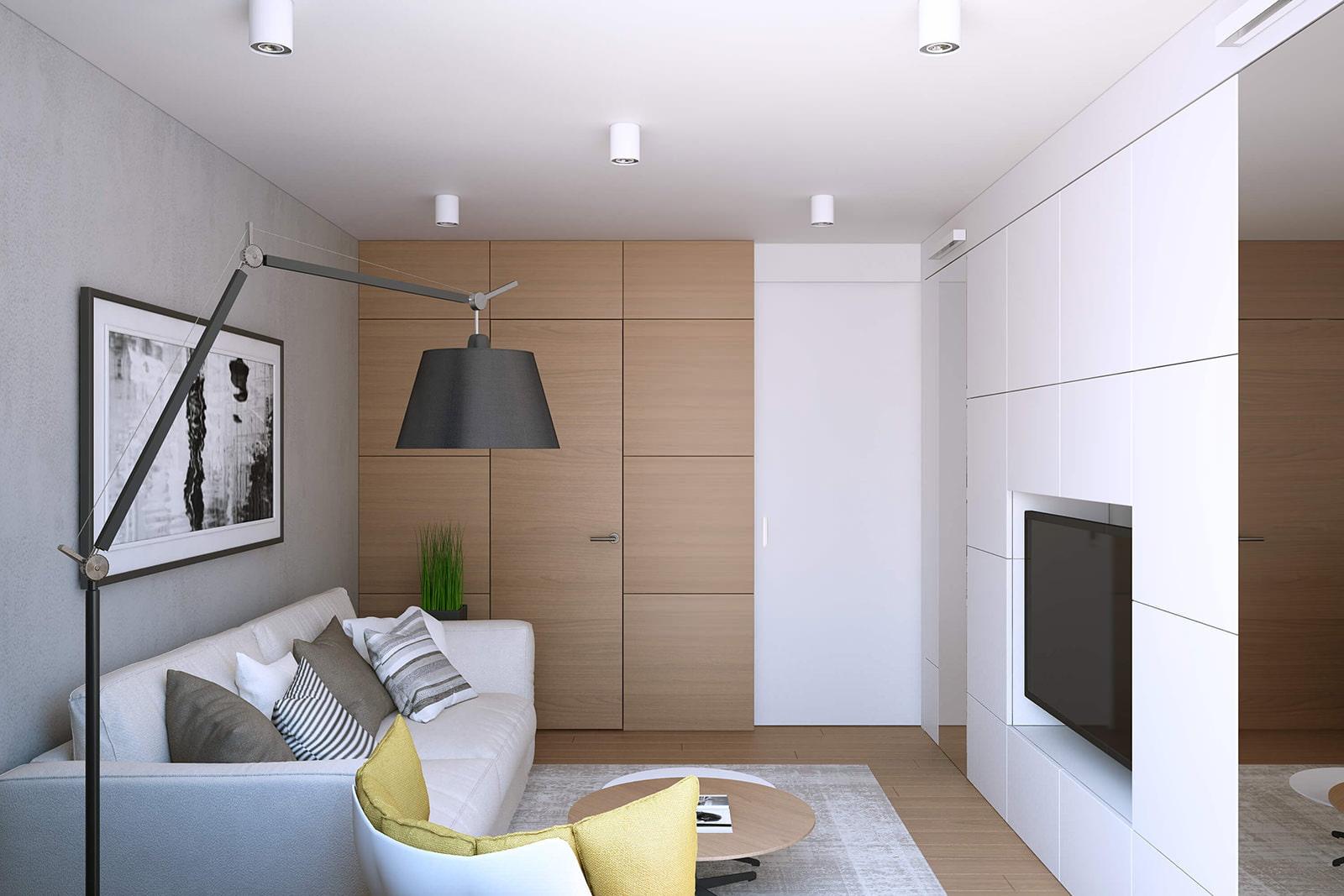 Однокомнатная квартира 43 кв.м дизайн