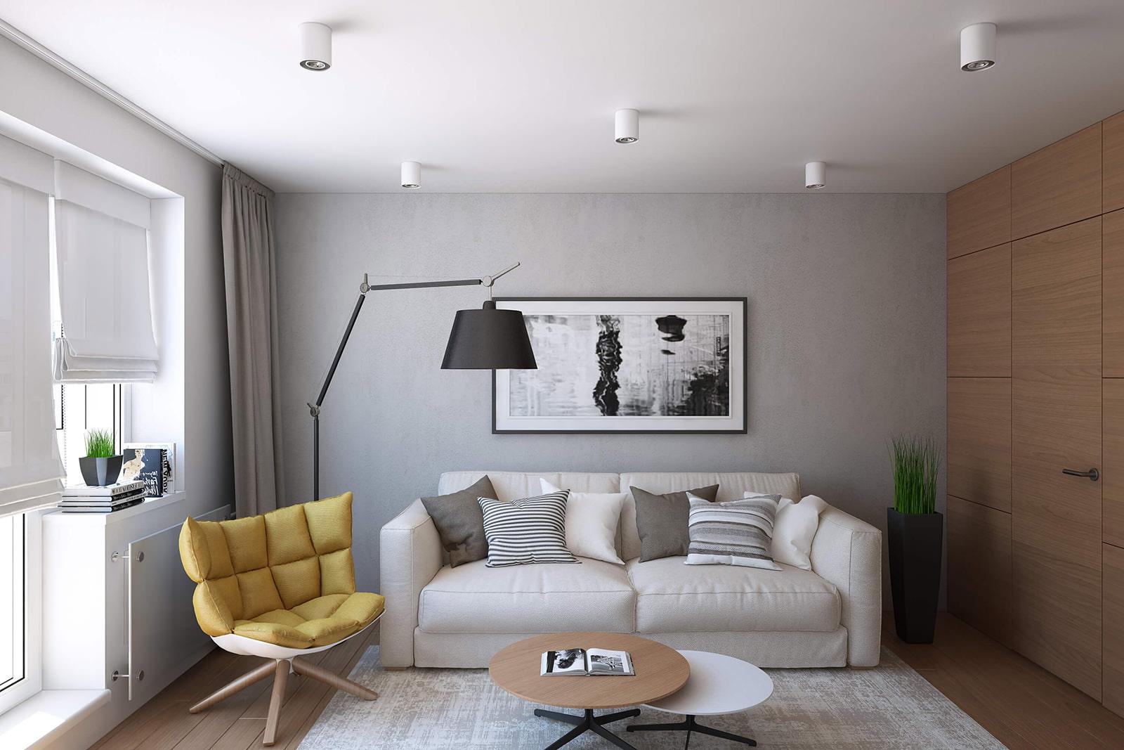 Дизайн студия 14 кв м дизайн фото