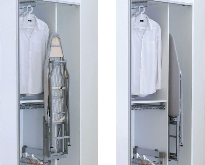 гладильная доска в шкафу-купе