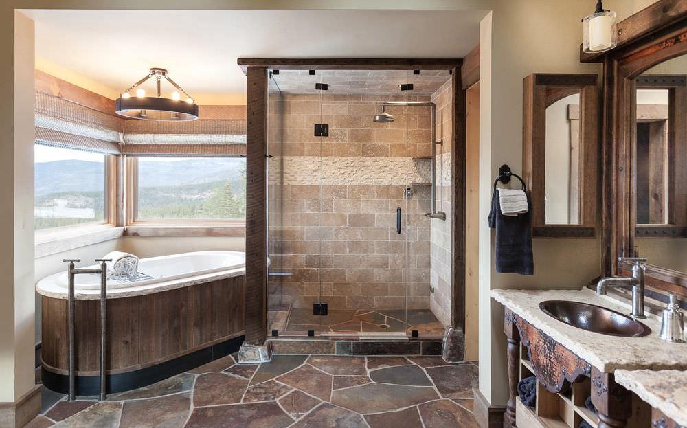 Ванные комнаты кантри стиль обои для ванной комнат