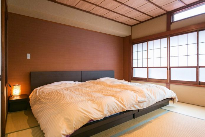 Как оформить дизайн спальни в японском стиле?