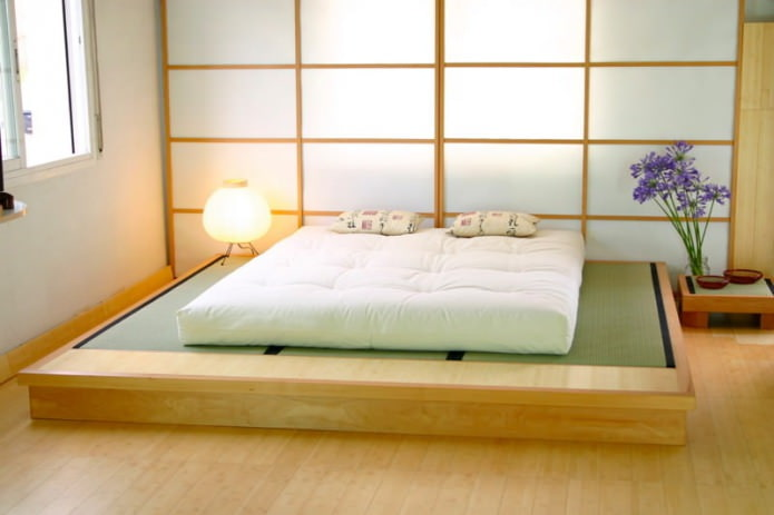 дизайн спальни в японском стиле