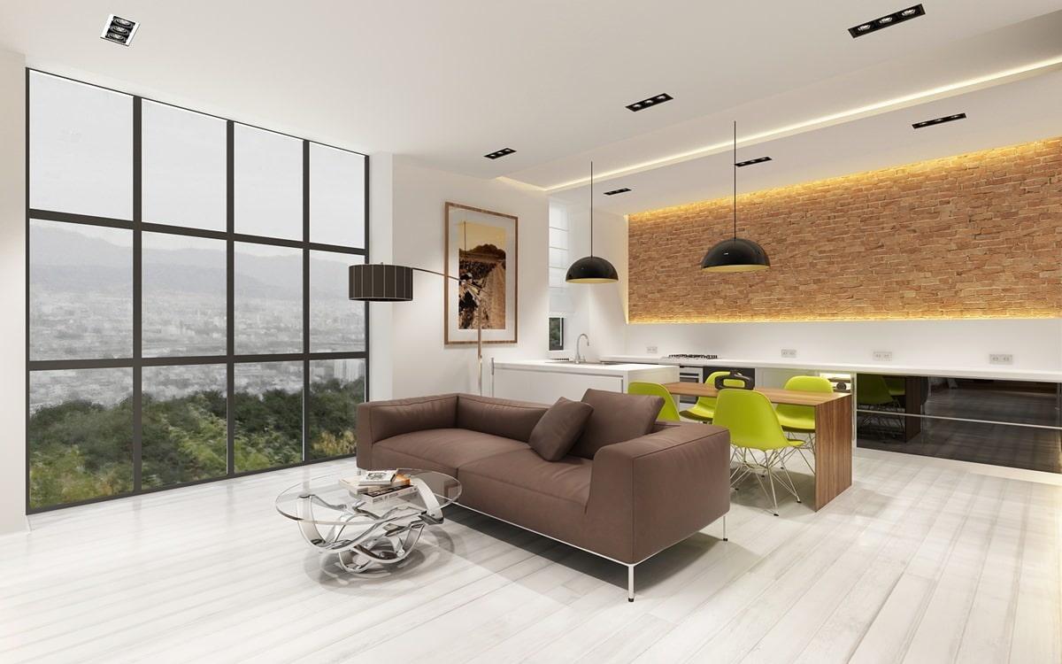 Проект квартиры-студии площадью 57 кв. м.