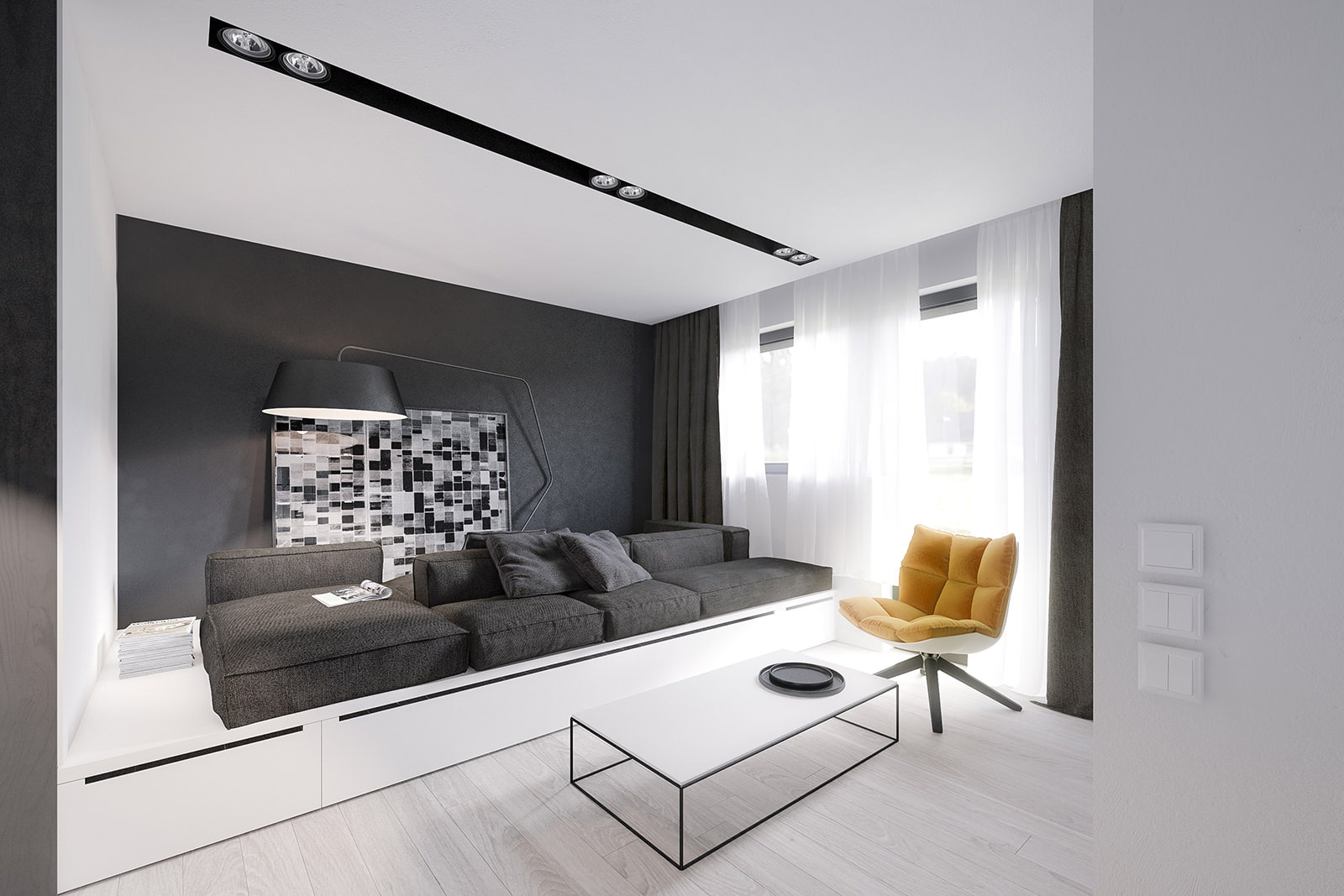 Гостиная в стиле минимализм дизайн