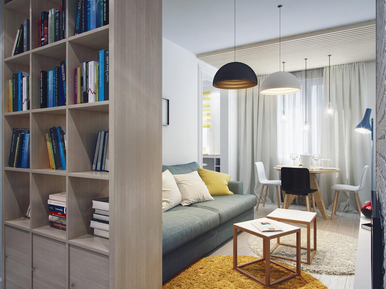 Дизайн типовой трешки ii - 49. гостиная и прихожая - интерье.