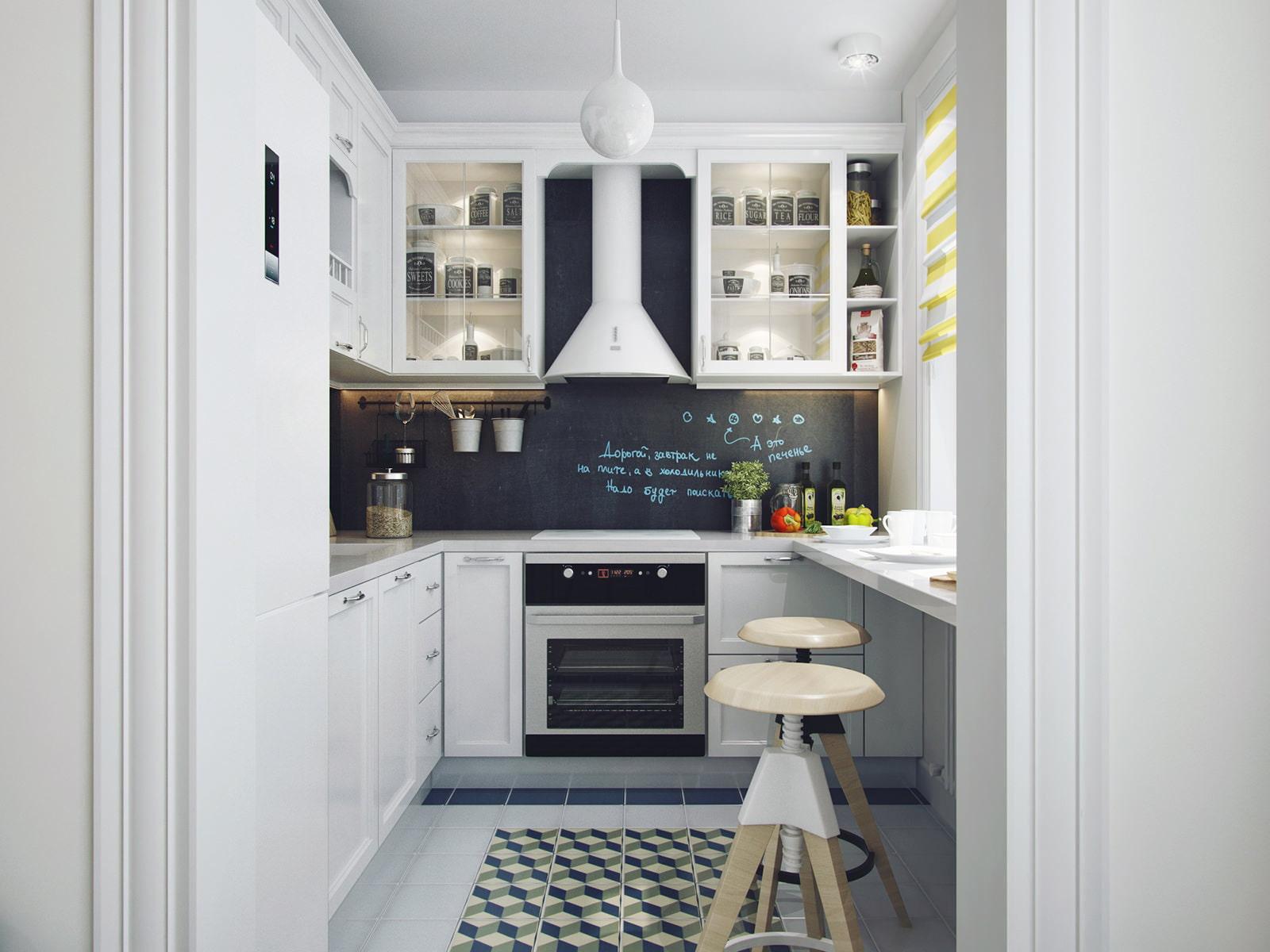 Кухни в панельном доме с барной стойкой дизайн