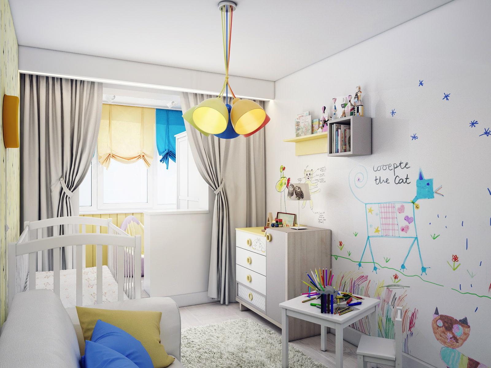 Дизайн детской комнаты: как оформить комнату малыша дизайн и.