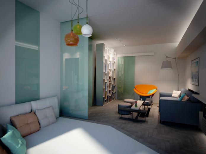 Дизайн перегородок между кухней и гостиной