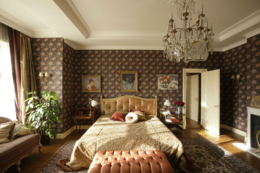 Интерьер спальни в классическом английском стиле фото