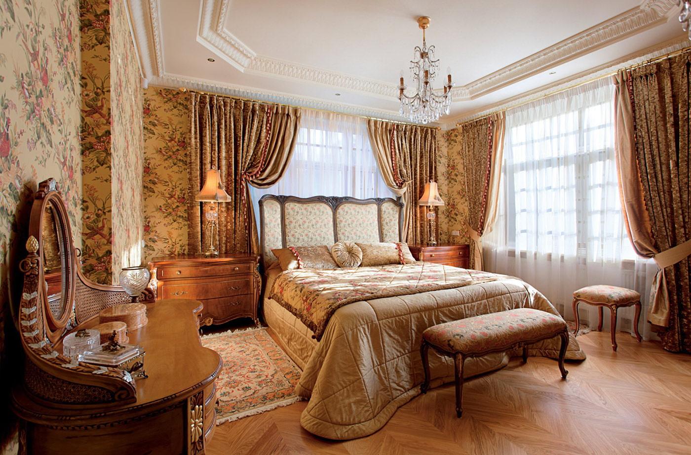 Спальни дизайн в английском стиле