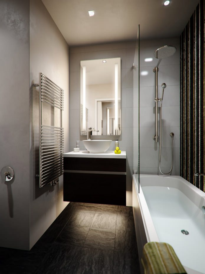дизайн ванной комнаты 3,6 кв. м.