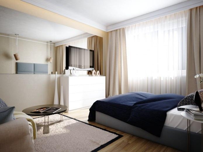 интерьер спальни 14,5 кв. м.