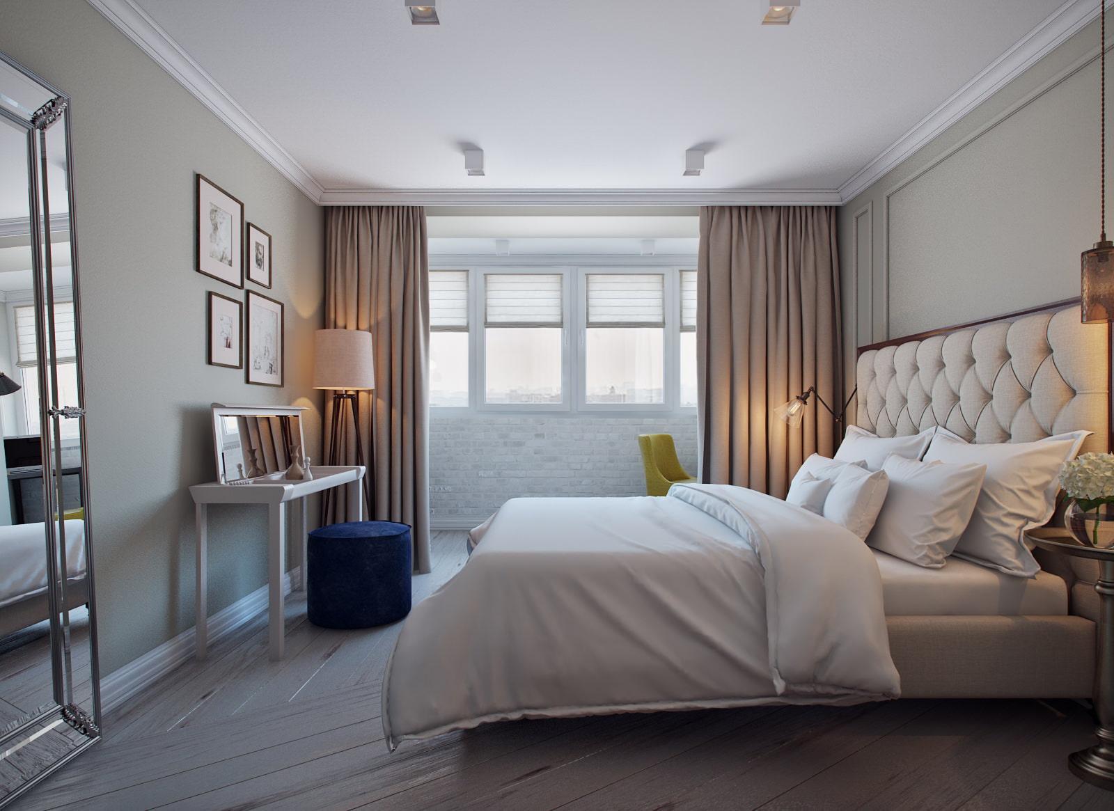 Проект дизайна трехкомнатной квартиры 80 кв. м. от айи лисов.