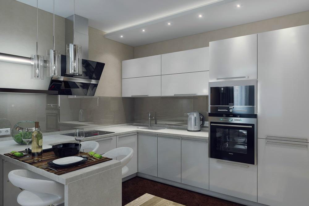 гостиная и кухня вместе фото в современном стиле