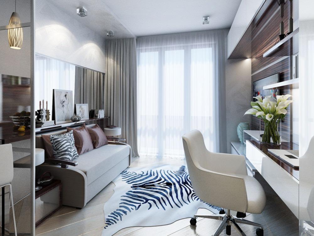 Квартира студия дизайн интерьера фото 20 кв.м