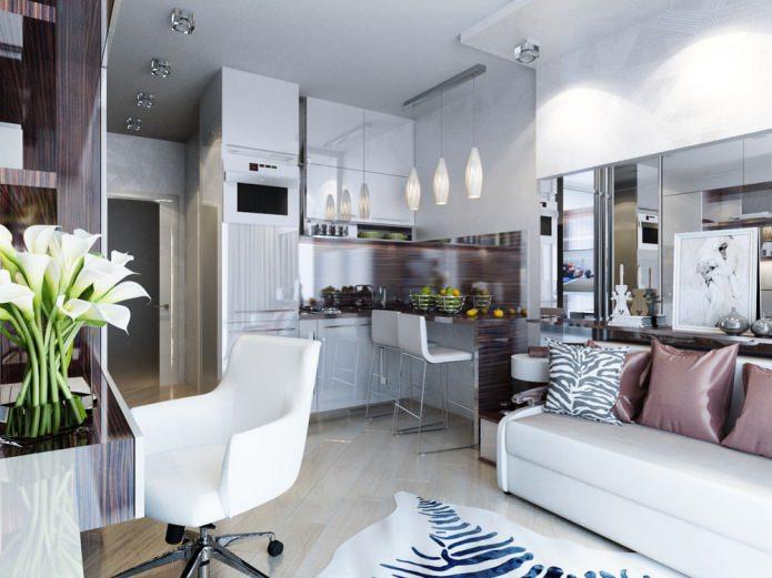 Дизайн-проект маленькой квартиры-студии