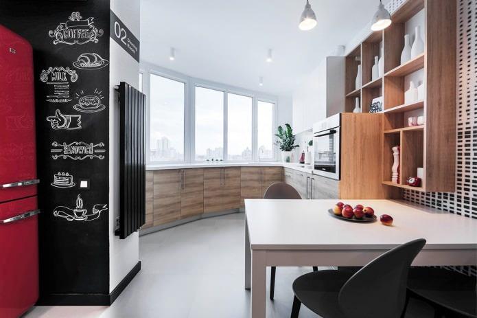 Интерьер кухни совмещенной с гостиной: 7 проектов в современном стиле