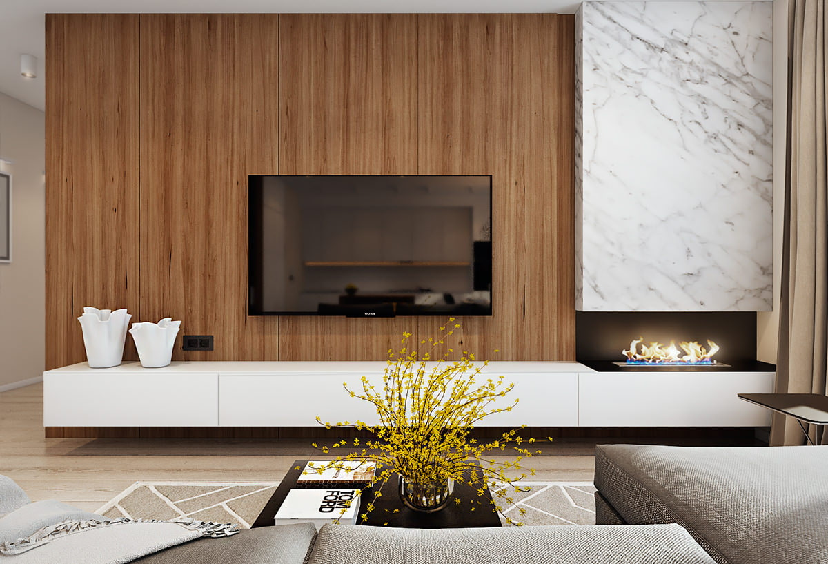 7 for Decorating ideas for living room wall niche