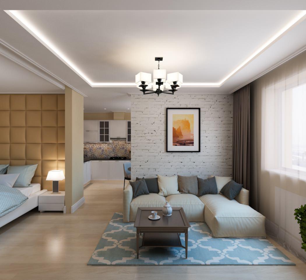Изящный дизайн квартиры 50 кв м