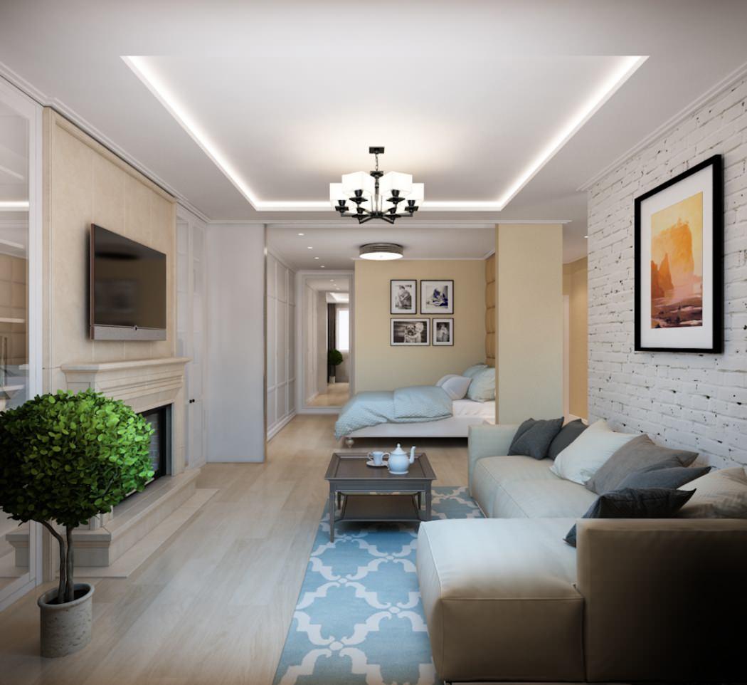 Дизайн квартир однокомнатной квартиры 50 кв.м