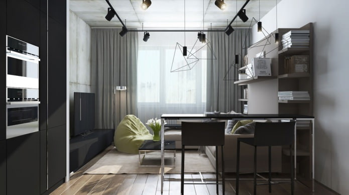 дизайн квартиры-студии 29 кв. м.