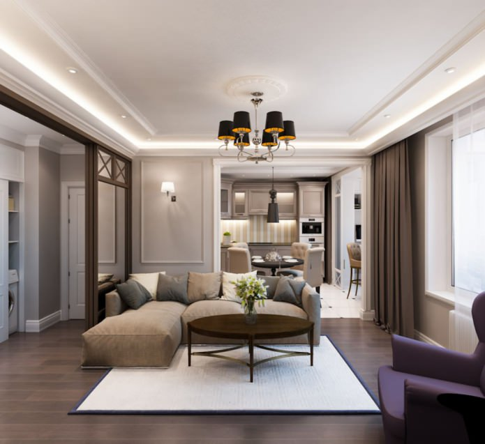 Проект от студии Archdizart Group: трехкомнатная квартира