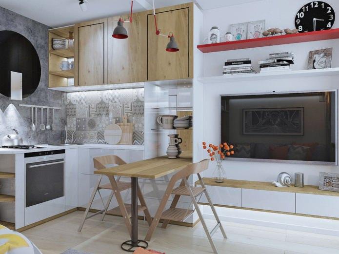 Дизайн маленькой квартиры студии 18 кв. м.