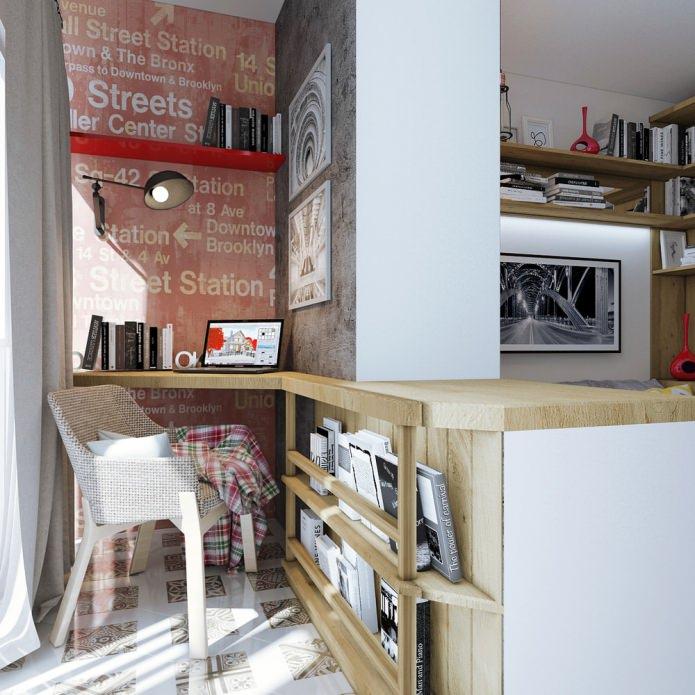 дизайн интерьера маленькой квартиры 18 кв. м.