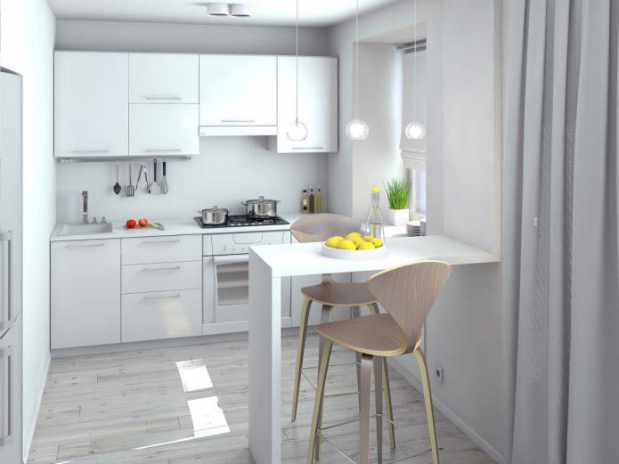 кухня в однокомнатной квартире-студии