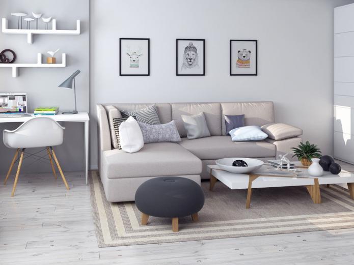 Проект однокомнатной квартиры-студии