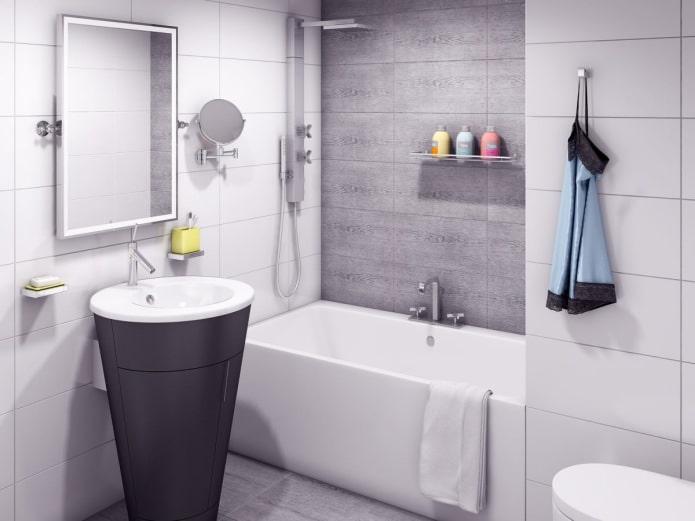 ванная в однокомнатной квартире-студии