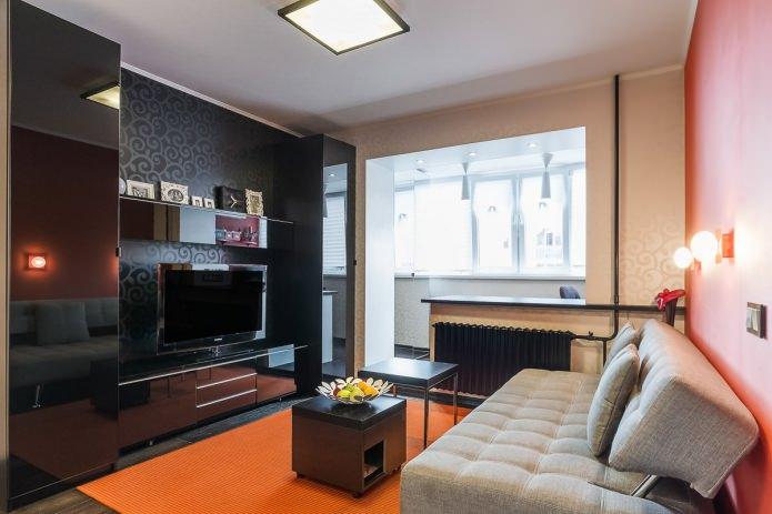 Современный дизайн однокомнатной квартиры 31 кв.м