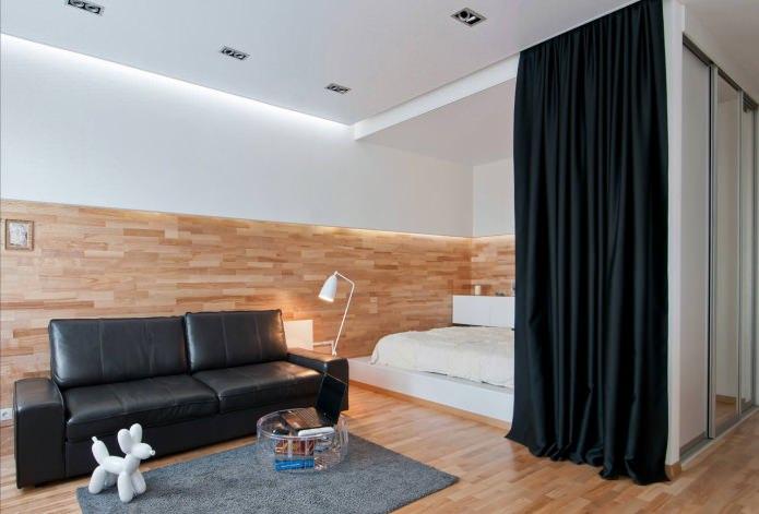 Квартира-студия с спальней в нише