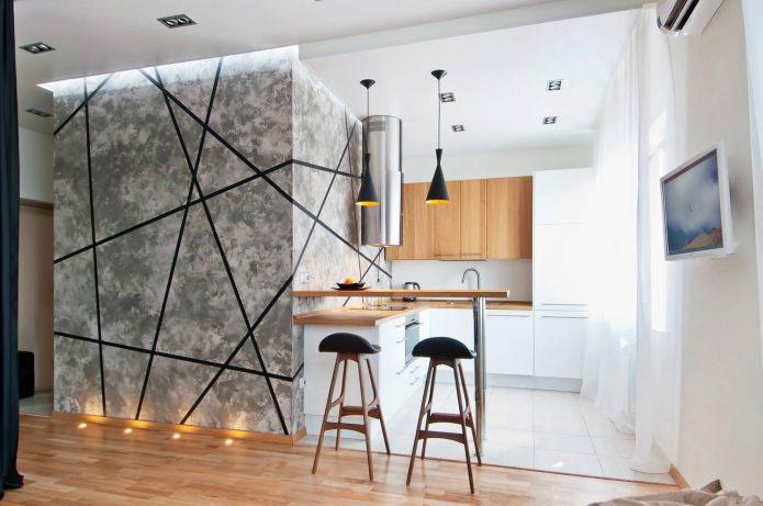 Квартира-студия с барной стойкой