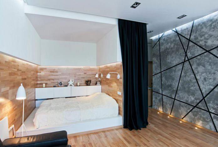 Дизайн кровати-подиума