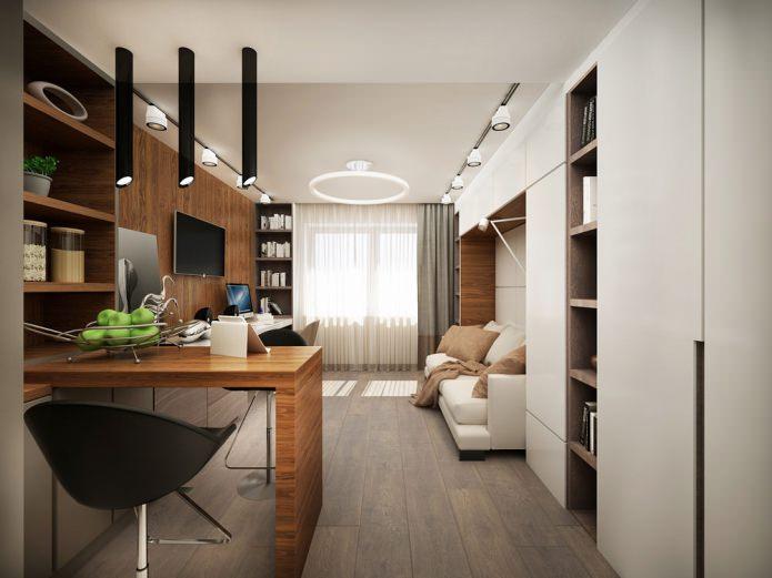 Современный и функциональный дизайн маленькой квартиры 25 кв. м.