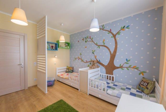 Обои для детской комнаты разнополых детей