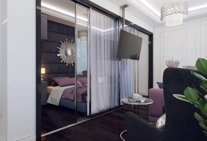 дизайн спальни в квартире 46 кв. м.
