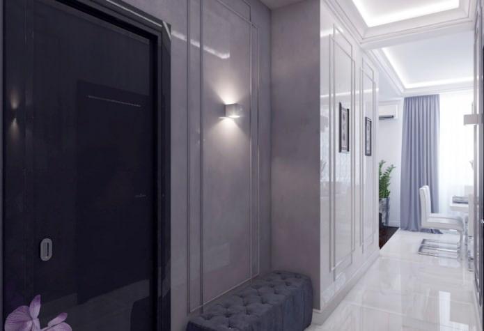 дизайн прихожей в квартире 46 кв. м.