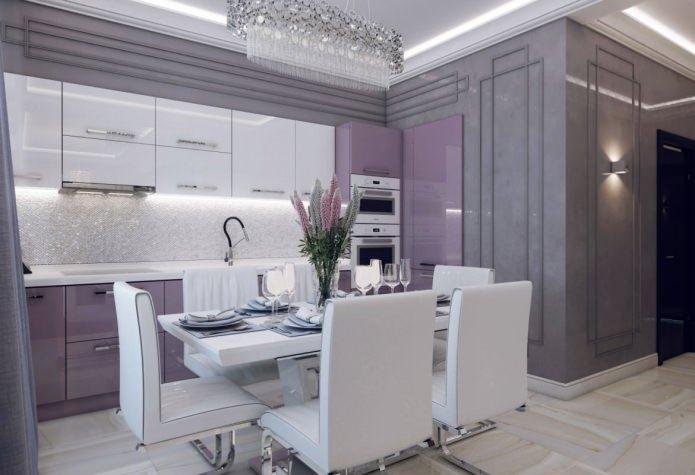 кухня в интерьере квартиры 46 кв. м.