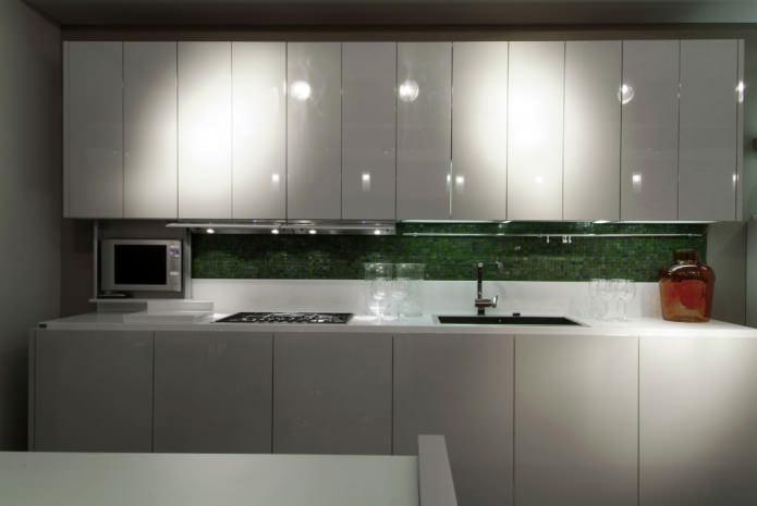 МДФ фасады для кухни с эмалевым покрытием