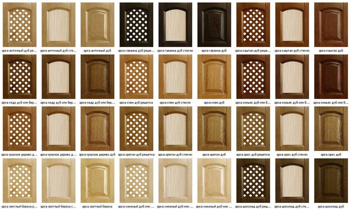 Материалы для кухонных фасадов: фото, плюсы и минусы.