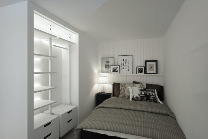 спальня в студии 33 кв. м.