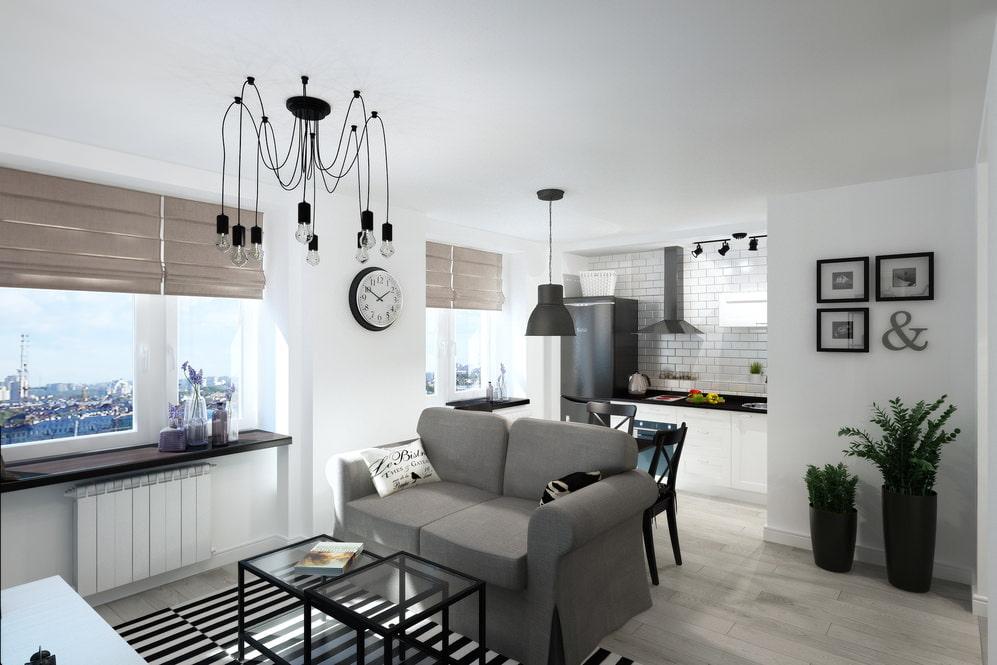 Дизайн квартиры студии 33 кв. м.