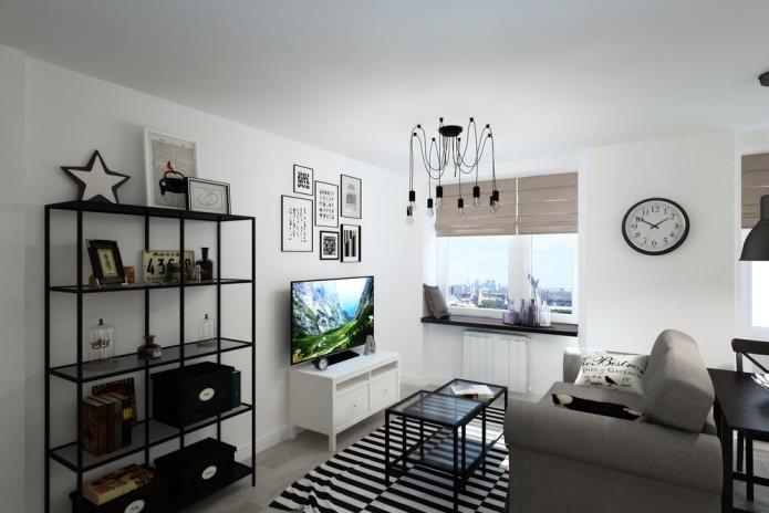 дизайн студии 33 кв. м.
